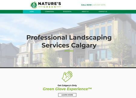 Nature's Green Website Design - Calgary