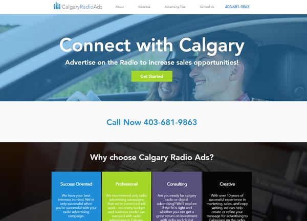 Calgary Radio Ads Website Design - Calga