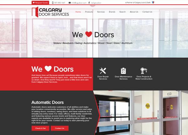 Calgary Door Services Website Design - C
