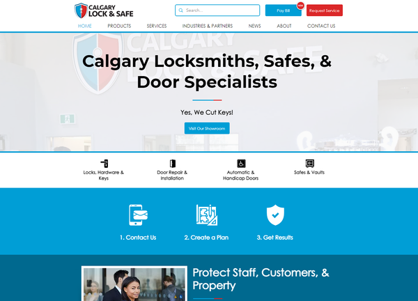 Calgary Lock & Safe Website Design - Cal