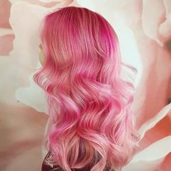 Pink Wavy Hair - Liv Hair - Hairstylist