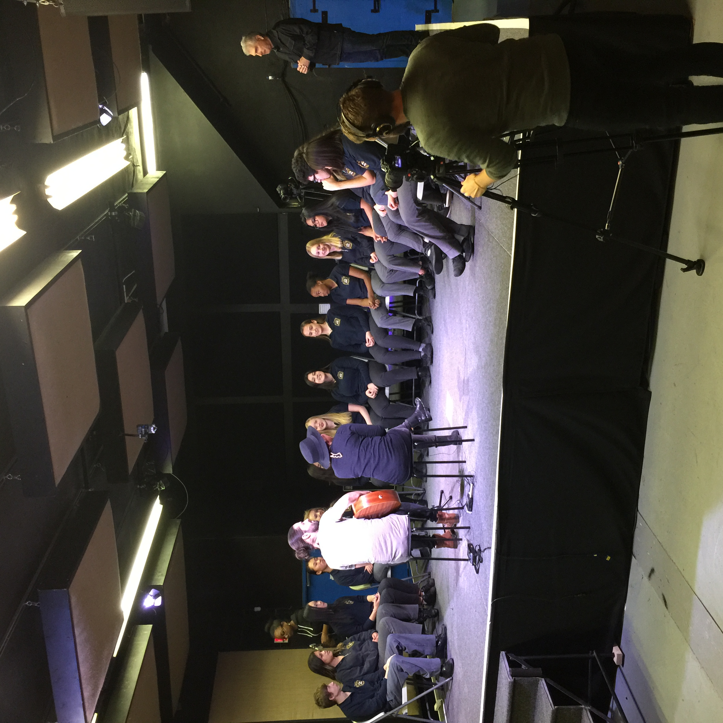 CBC Music filming with students