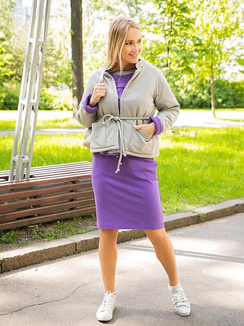 Куртка-душегрейка двухсторонняя