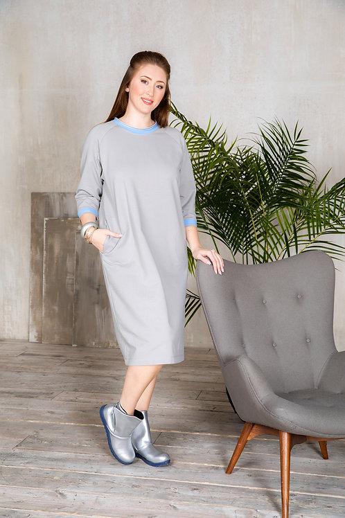 Платье с рукавом-реглан.