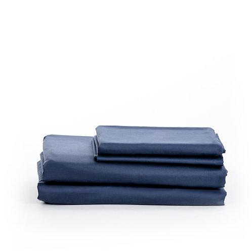 סט סאטן 500 Navy Blue