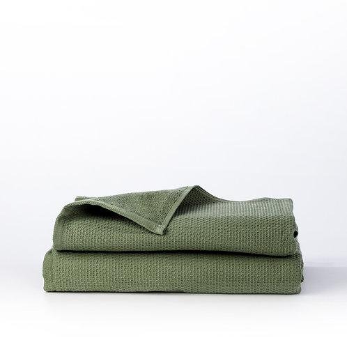מגבת רחצה באריגת פיקה - ירוק
