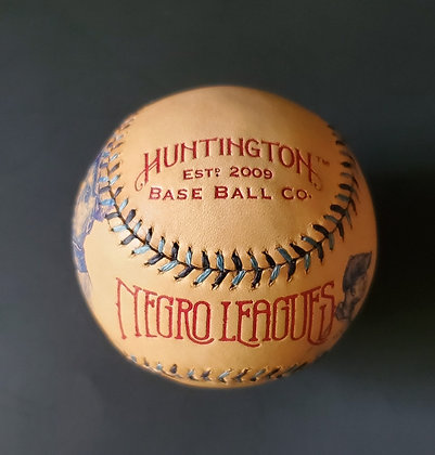 Custom Sketched Baseball of Mule Suttles, Effa Manley, and Rube Foster