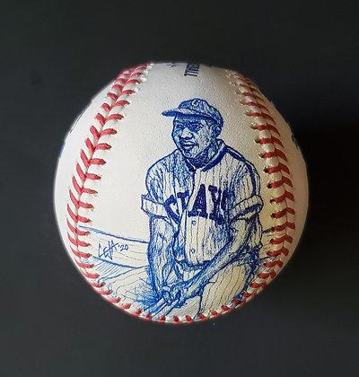 Josh Gibson Sketched MLB baseball