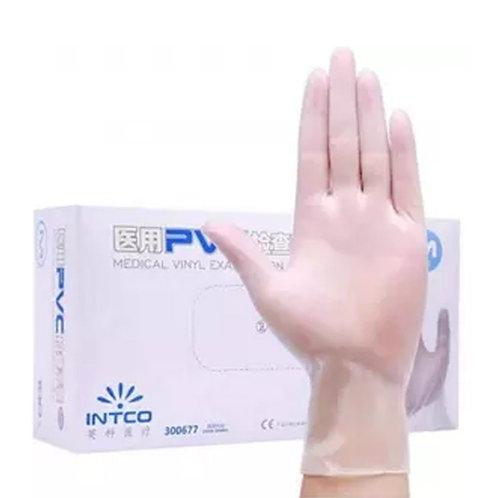 Medical Vinyl Gloves Clear (Pack of 100)