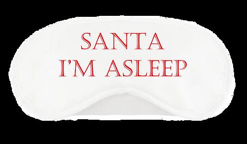 Christmas Eye Mask Santa I'm Asleep Design