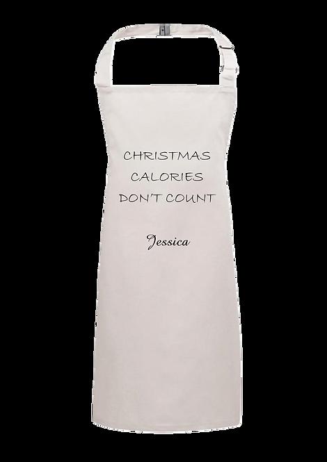 Christmas Apron Calories Design