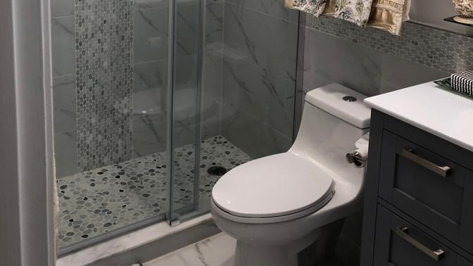 V - Guest Bathroom with frameless glass