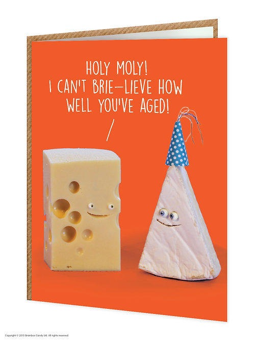 Say Cheese Greeting Card - Can't Brie-lieve