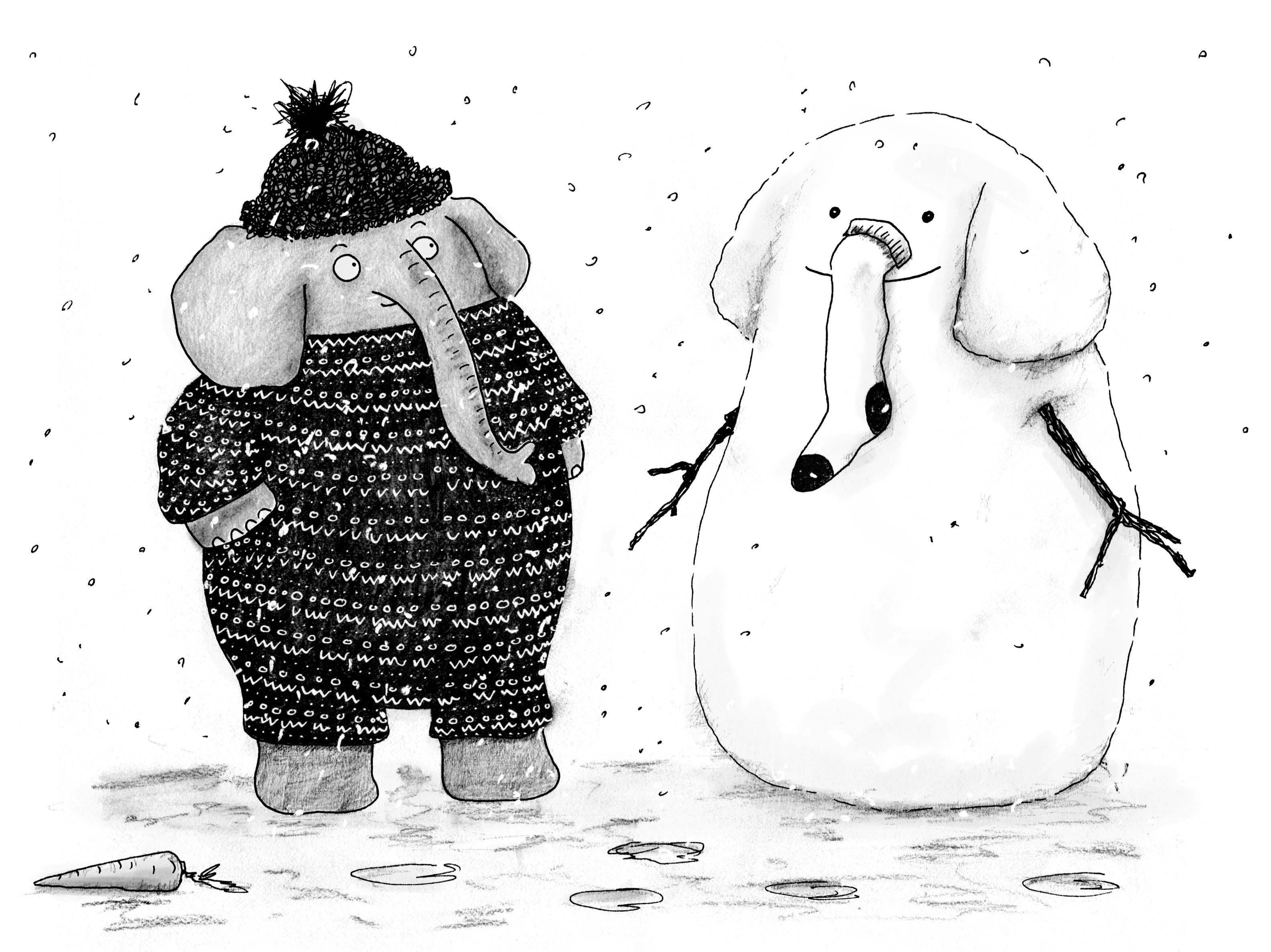 Elephant-Snow