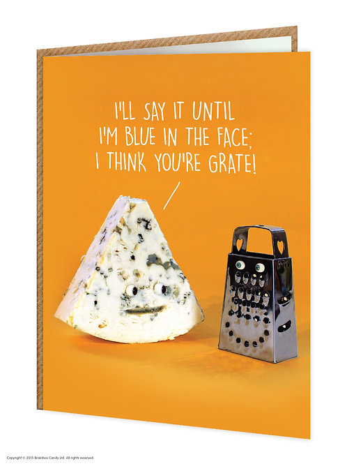 Say Cheese Greeting Card - You're Grate