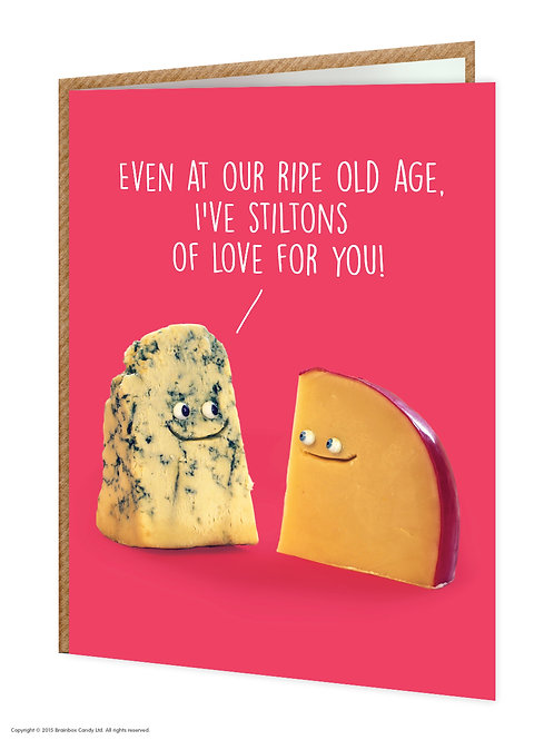 Say Cheese Greeting Card - Stiltons of Love