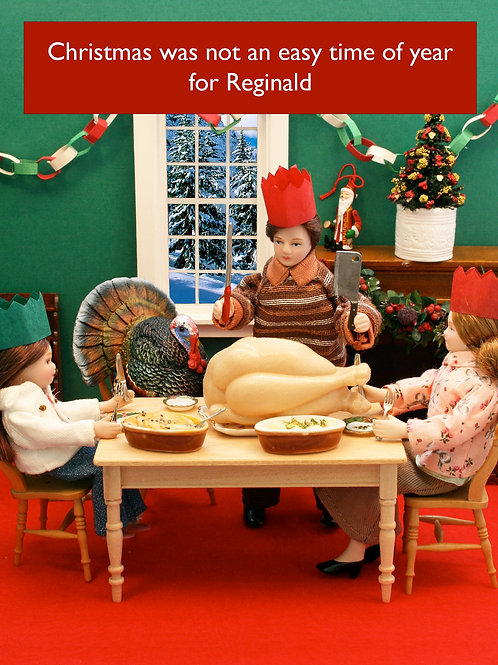 Teeny Tiny People - Turkey Christmas Card