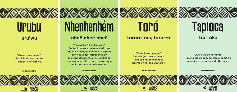 atividade infantil gratuita museu arte para crianca palavras indigenas tupi guarani