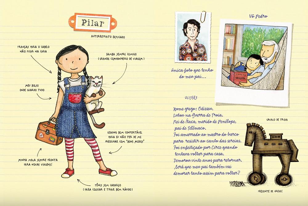 Diário de Pilar livro infantil pequena zahar