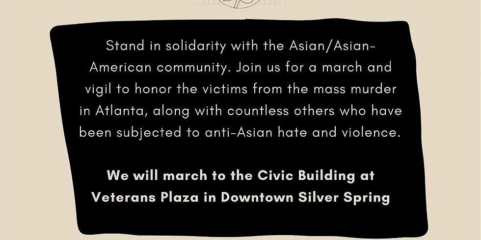 Stop AAPI Hate March and Vigil
