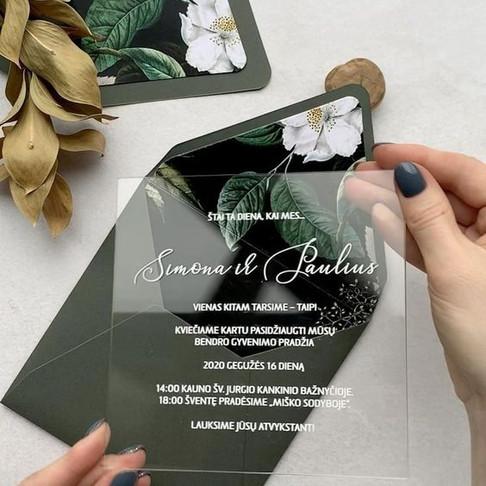 Inspiração: Convites Acrílicos