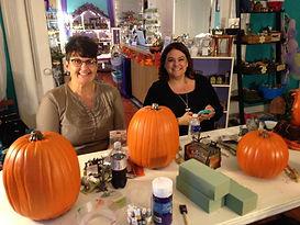 Foam pumpkin Halloween fairy garen