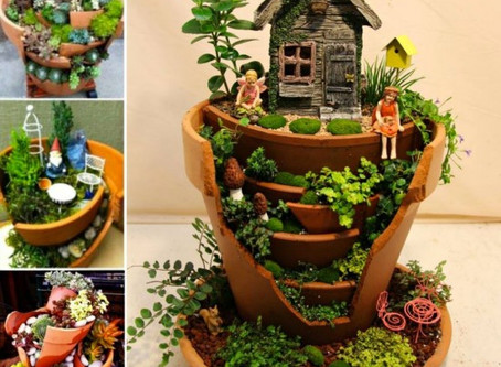 Broken Pot Fairy Garden's
