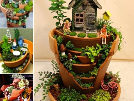 Broken Pot Fairy Garden's