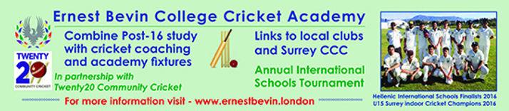 Ernest Bevin Sixth Form Cricket Academy