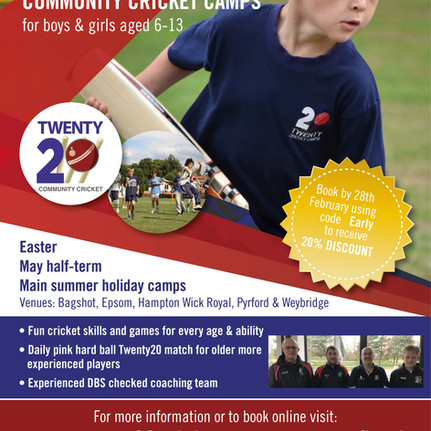 2020 Summer Cricket Camps - Bookings open