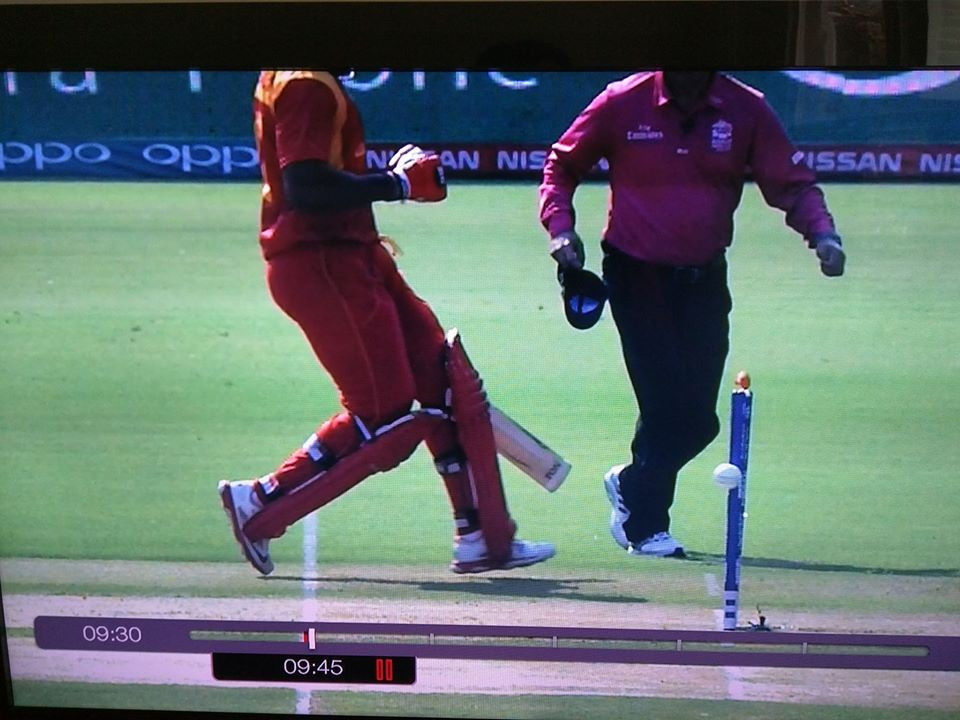 Hamilton Masakadza run out in T20 World Cup
