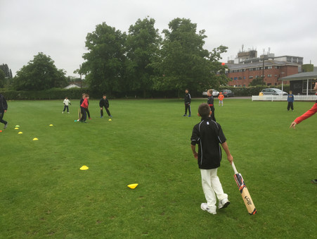 Epsom half term cricket camp weathers all conditions