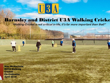 Walking Cricket flourishing in Barnsley