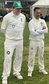Umesh Valjee MBE & Mike O'Mahony England Deaf Cricketers