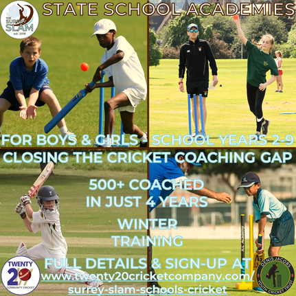 Surrey Slam Schools - cricket training for state school students