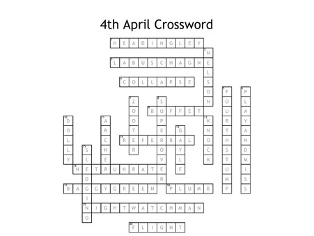 Weekend Fun - ANSWERS to Crossword & Word Search