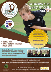 State School cricket programme for 9-12 year olds starts this September