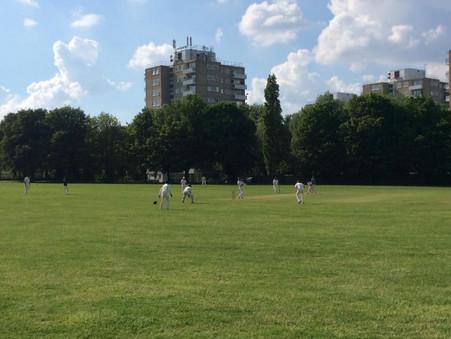 St James' Cricket Club intra-club match in Wandsworth