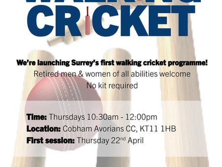 Surrey County Walking Cricket team launches