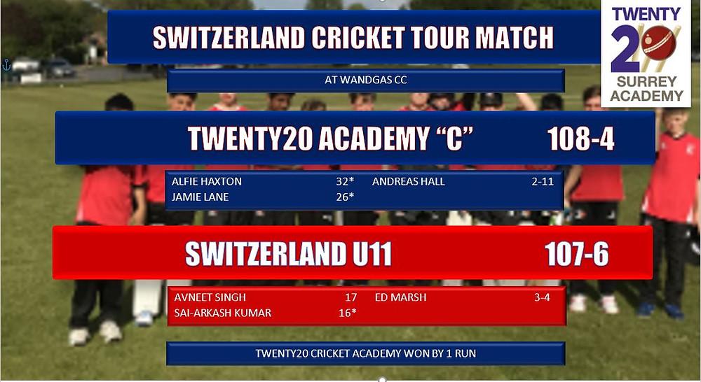 Twenty20 Cricket Academy v Switzerland