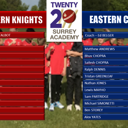Academy Week Teams Announced