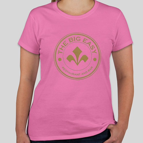 Ladies Big Easy Tee in Cotton Candy Pink