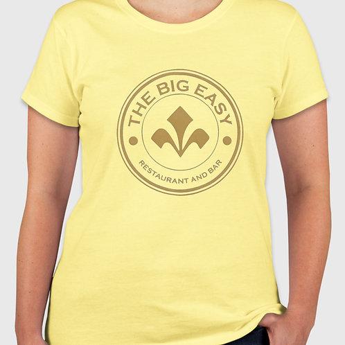 Ladies Big Easy Tee in Sunshine Yellow
