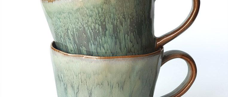 Poured Pastel Glaze Ceramic Mug