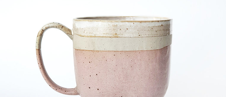 Pink Rustic Cottage Cup