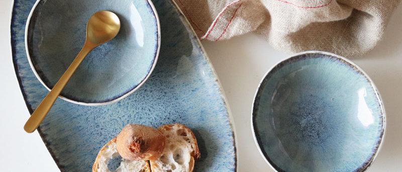 Sea Anemone Serving Platter & Sauce Dish Set