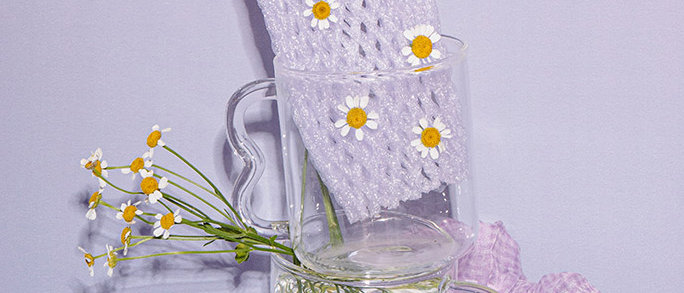 Wavy Handle Glass Cup Transparent