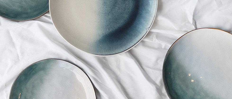 Tie Dye Indigo Plate