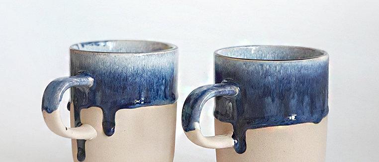 Dripping Glaze Matte Cup Indigo