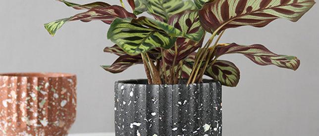 Black Terrazzo Planter Pot